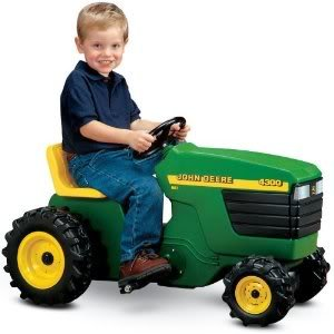 john deere plastic pedal tractor with fully operational steering wheel adjustable seat pedals toy