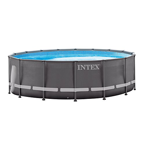 Intex 16ft X 48in Ultra Frame Pool Set with Sand Filter Pump, Ladder, Ground Cloth & Pool Cover (Filter Swimming Pool Sand)