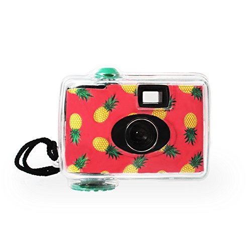 LMNT Disposable Underwater Camera, Waterproof Disposable Camera,Throwaway Camera up to 16ft with 17 exposures 35mm film (Pineapple)