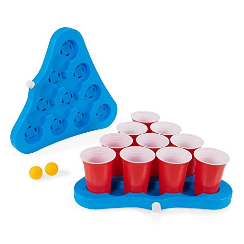 Original Party Supplies Freezable Beer Pong Rack Table Top, 2-Pack, 10 Cup Capacity Each Side]()