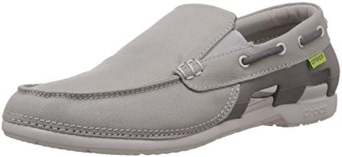 Crocs Men's Beach Line Boat Shoe grey