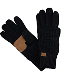 Unisex Cable Knit Winter Warm Anti-Slip Touchscreen Texting Gloves