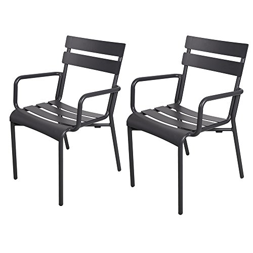 dporticus indoor outdoor aluminum chairs with slat back and seat