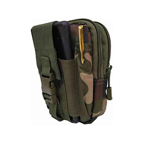 PAPER PLANE DESIGN Men's Canvas Tactical Army Print Design Gadget Travel Zipper Waist Pouch (Multicolour)