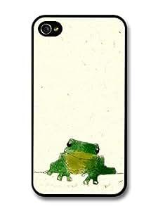 good case Cute Frog Digital Illustration Original Art case cover for fw1OQUBIWXg iPhone 4 4S