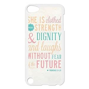 Personalized Unique Design Case for Ipod Touch 5, She is clothed with strength Cover Case - HL-521459
