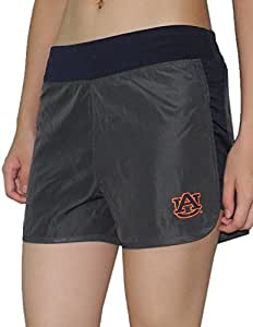 Womens AUBURN TIGERS Dri-Fit Running / Athletic Shorts with Brief Lining M Grey