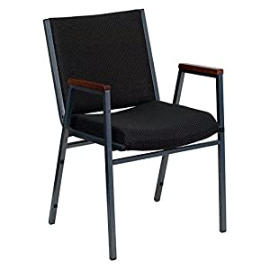 Flash Furniture Hercules Series 3-Inch Thickly Padded Upholstered Stack Chair with Arms Patterned/Chrome