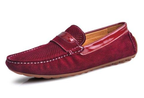 Joansam Mujer Piel de Vaca Zapatos de Conducción Cordones Hombre Barco Zapatos Flats 5TaSGHOIn