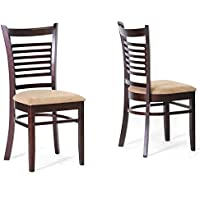 Baxton Studio Cathy Brown Wood Modern Dining Chair, Set of 2