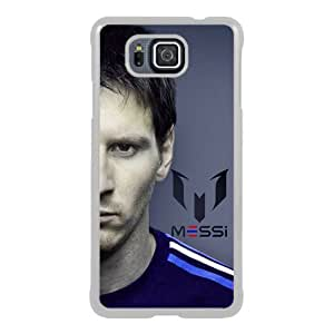 Samsung Galaxy Alpha Case ,Hot Sale And Popular Designed Samsung Galaxy Alpha Case With Soccer Player Lionel Messi 61 White Hight Quality Cover