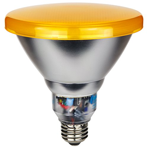Sunlite SL23PAR38/Y 23 Watt PAR38 Energy Saving CFL Light Bulb Medium Base Yellow