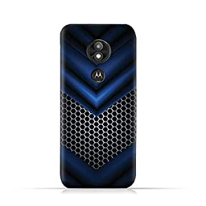AMC Design Motorola Moto E5 Play TPU Silicone Protective case with Abstract Blue Mesh Pattern