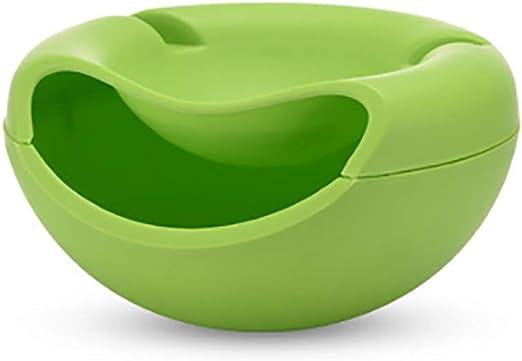 Speedmar Cajas organizadoras de Almacenamiento portátil de plástico para Frutas, Semillas de melón de Doble Capa, Plato de Fruta Seca, Caja de Almacenamiento de melón, Color Verde: Amazon.es: Hogar