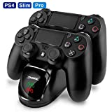 Dual USB Controller Charger for PS4 KINGTOP Charging Dock Station for Playstation 4 with LED Indicator for Sony Playstation 4 PS4 / PS4 Pro / PS4 Slim Controller