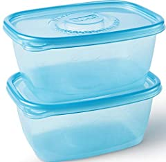 Glad FreezerWare containers seal in freshness to protect the food you want to save in the freezer. Instead of plastic that gets brittle and chip when frozen, Glad FreezerWare is designed to be crack resistant in the freezer. With the 64 ounce...