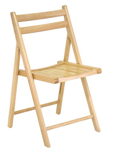 Amazoncom Winsome Wood Folding Chair Natural Set of 4 Chairs