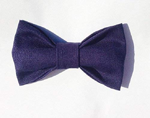 Navy Blue Baby Toddler Kids Clip On Bow Tie