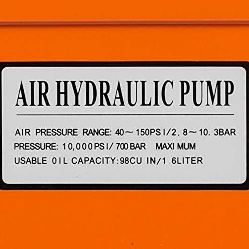 Frantools Pompe hydraulique /à air 10000 PSI R/éservoir hydraulique de 0,5 gal Pompe /à pied hydraulique Pied /à p/édale pneumatique actionn/é hydraulique