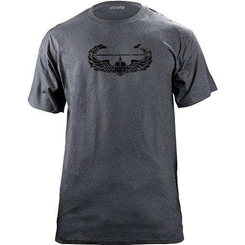 (USAMM Vintage Army Air Assault Badge Subdued Veteran T-Shirt (2XL, Grey))