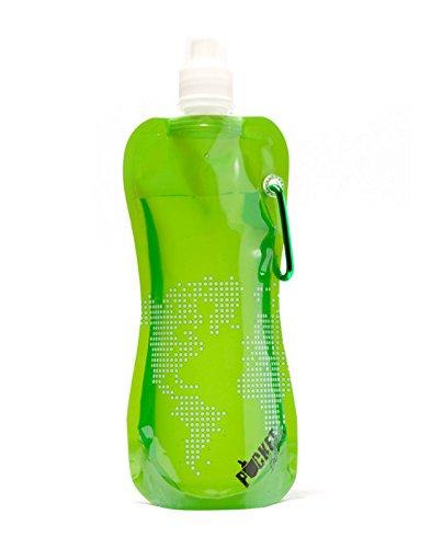 Mailwraps Cat - Zees Inc Pocket Bottles Cb1010 World Map On Foldable Bottle, 16 Oz, Green