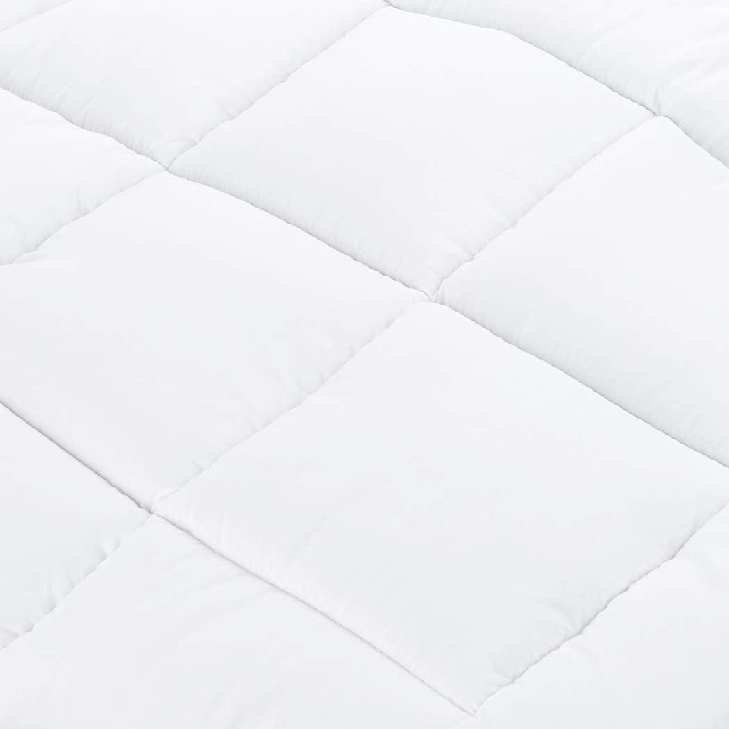 Basics Sur-matelas en duvet synth/étique avec housse en microfibre 90 x 200 cm