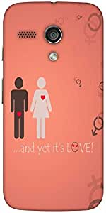 Snoogg And Yet Its Love Designer Protective Back Case Cover For Moto-G