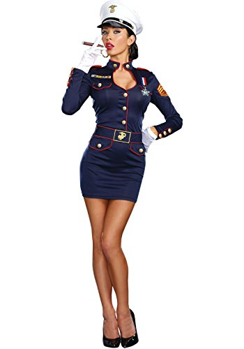 Dreamgirl Women's Take Charge Marge Military Captain Costume,
