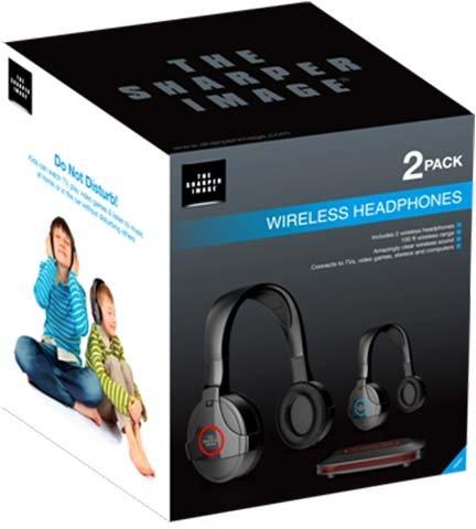 Amazoncom Sharper Image Wireless Headphones 2 Pack Shp921 2