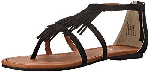 BC Footwear Women's Maltese Wedge Sandal, Black, 8.5 M US