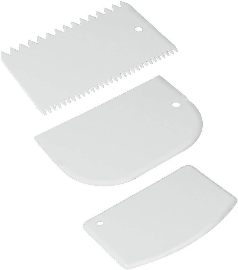 Metaltex - Juego de 3 paletas de plástico para repostería
