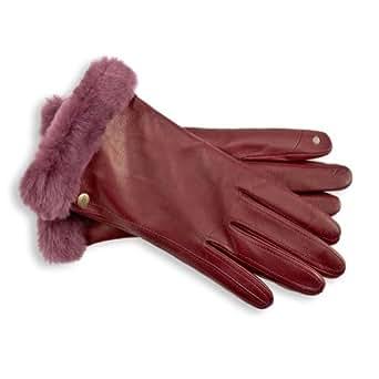 UGG Women's Classic Leather Smart Glove (S, Mahogany)