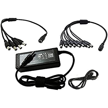 Amazon Com Q See Qss1250a 12v 5a Camera Ac Adapter With 4 Way Power