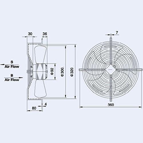 Ventilador Axial Campana diámetro 300 mm 90 W 220 V – Con Motor Y Rejilla: Amazon.es: Bricolaje y herramientas