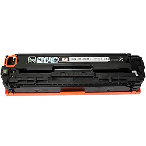 for HP 128A/CE320A, 128A/CE321A Compatible Toner Cartridges HP Color Laserjet CP1525/CM1415/CE320 Printers are Compatible with Toner Cartridges, Available in 4 Colors (Color : Black)