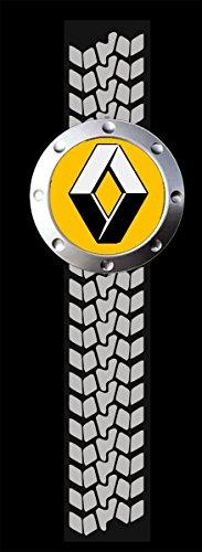 Renault Logo AUTO FUN Schwarze Langarmshirt -758-LA