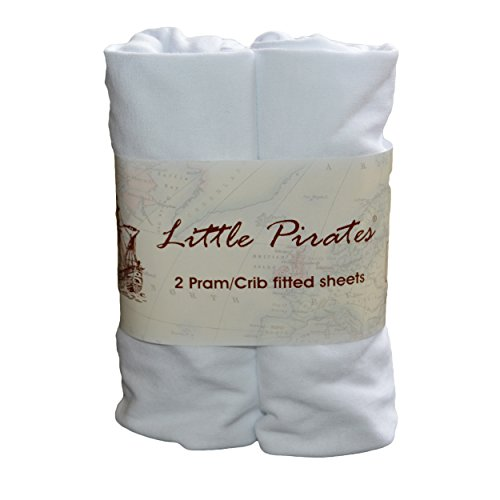 Crib Jersey Fitted Sheet 100/% Cotton 40x90cm White