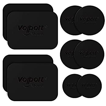 Metal Plate for Phone Magnet, 10 Pack Volport MagicPlate with 3M Adhesive Replacement for Magnetic Phone Car Mount…
