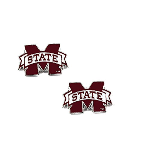 Mississippi State Bulldogs Post Stud Logo Earring Set Ncaa Charm (Bulldogs Team Post Earrings)