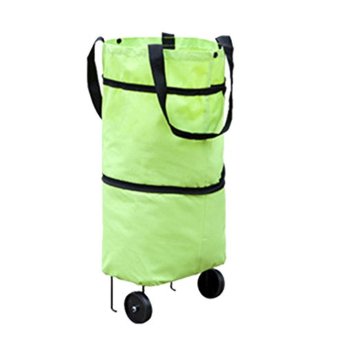 Sac à Provisions Portable Supermarché Sfit Pliables Bandoulière Sacs Sacs 39cmx49cmx28cm Vert Main à Shopping à znFx7ax