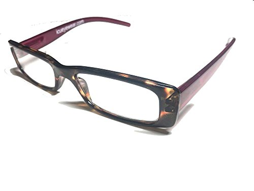 ICU Eyewear Reading Glasses - 7055 Modified Rect Tort (+1.00, Purole) by ICU Eyewear
