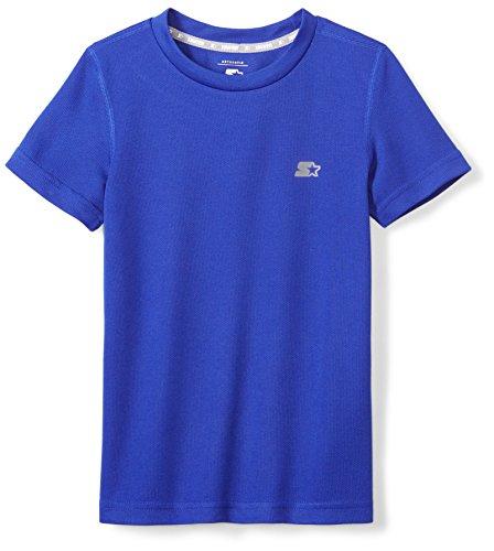 Starter Boys' Short Sleeve Tech T-Shirt, Prime Exclusive, Team Blue, L (Blue Team Logo T-shirt)