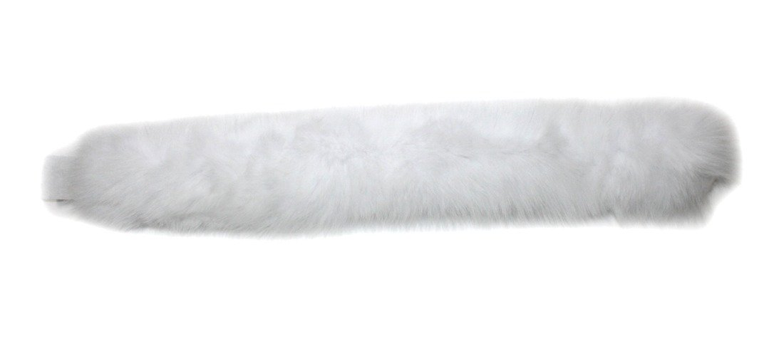 511250 New Natural White Fox Fur Headband Hat Collar Head Wrap Cute Accessory by Bergama