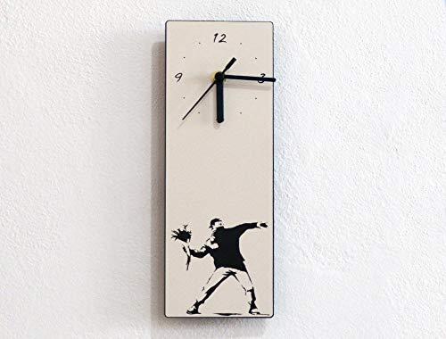 - Banksy Flower Thrower - Wall Clock
