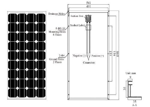 Renogy-4-Pieces-100W-Monocrystalline-Photovoltaic-PV-Solar-Panel-Module-12V-Battery-Charging