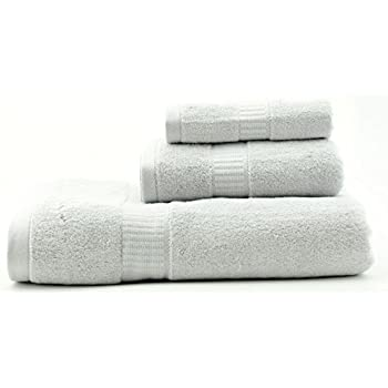 AmeriBamboo High-Quality Bamboo Rayon 600 GSM - 3-Piece Premium Towel Set (Silver Grey)