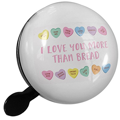 Small Bike Bell I Love You More Than Bread Valentine's Day Conversation Hearts Border - NEONBLOND - Border Bread
