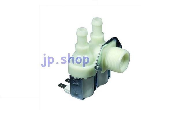 Electroválvula doble carga agua 2 vías lavadora 90° universal ...