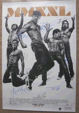 Magic Mike Movie Poster Signed by Cast In Person Autographed Poster