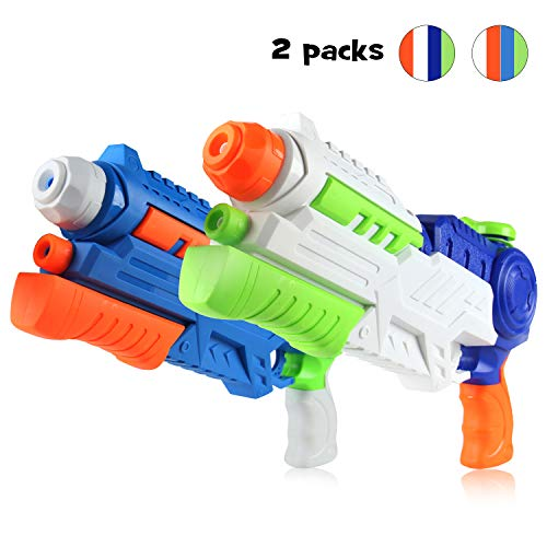 Tobeape 2 Pack Super Water Gun, 1200CC High Capacity Water Soaker Blaster Squirt Gun Swimming Pool Beach Sand Water Fighting Toy for Kid&Adult